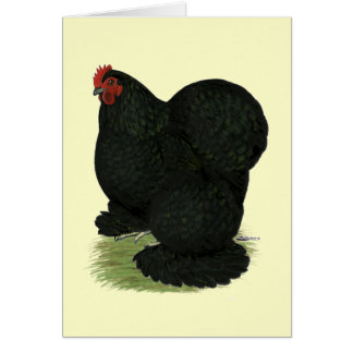 Cochin:  Black Hen Stationery Note Card
