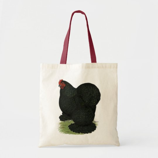 Cochin:  Black Hen Tote Bag