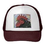 Cochin:  Cabeza decorativa del gallo Gorros Bordados