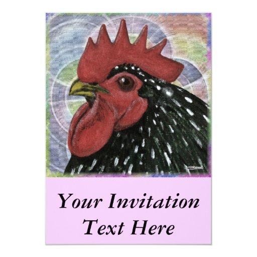 Cochin:  Cabeza decorativa del gallo Comunicado Personalizado