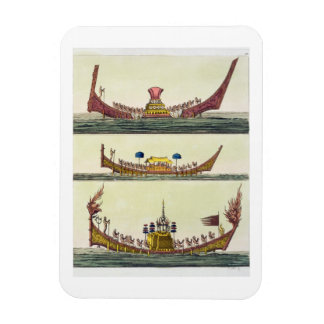 Cochin Chinese ships, illustration from 'Le Costum Rectangular Magnets
