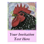 Cochin:  Decorative Rooster Head Custom Invites