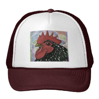 Cochin:  Decorative Rooster Head Trucker Hats
