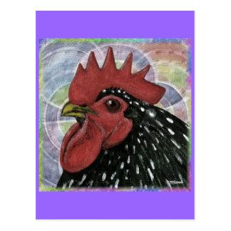 Cochin:  Decorative Rooster Head Postcard