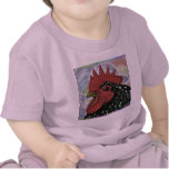 Cochin:  Decorative Rooster Head T Shirts