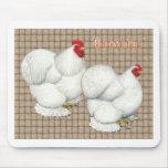 Cochin:  Gallos blancos Alfombrillas De Ratones