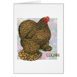Cochin:  Gold-laced Hen Card