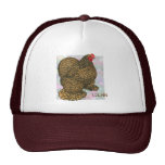 Cochin:  Gold-laced Hen Mesh Hat