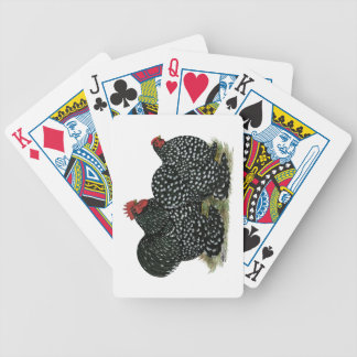 Cochin Mottled Chicken Pair Bicycle Playing Cards