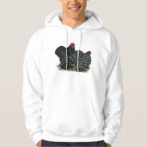 Cochin Mottled Chickens Hoodie