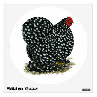 Cochin Mottled Hen Wall Sticker