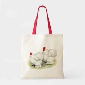 Cochin:  White Bantams Bags