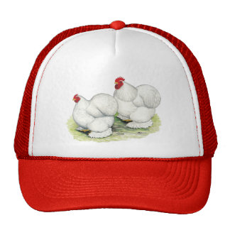 Cochin:  White Bantams Trucker Hats