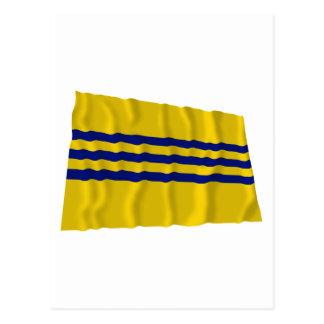 Cochinchina Waving Flag (1946-1948) Postcard