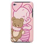 Cochinillo con el oso de peluche iPod Case-Mate cobertura