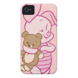 Cochinillo con el oso de peluche Case-Mate iPhone 4 fundas