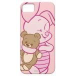 Cochinillo con el oso de peluche iPhone 5 fundas