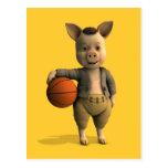 Cochinillo de Basketballer Postal