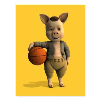 Cochinillo de Basketballer Tarjetas Postales