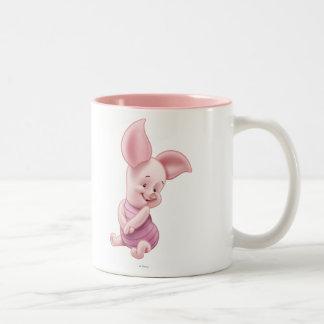Cochinillo del bebé taza de dos tonos