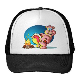 Cochinillo del dibujo animado gorra