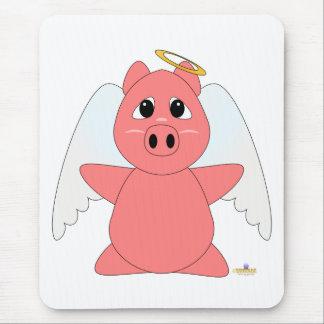 Cochinillo Huggable del rosa del ángel Alfombrilla De Ratones