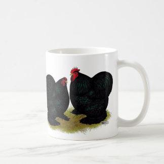 Cochins Black Bantam Pair Coffee Mugs