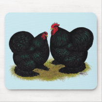 Cochins Black Bantam Pair Mouse Pad