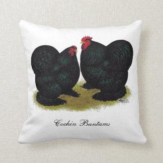 Cochins Black Bantam Pair Throw Pillow