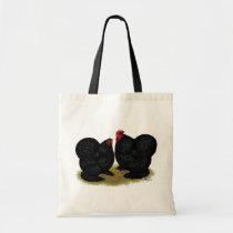 Cochins Black Bantam Pair Tote Bag