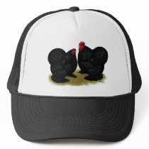 Cochins Black Bantam Pair Trucker Hat