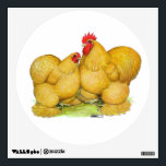 """Cochins Buff Pair Wall Sticker<br><div class=""""desc"""">Buff Cochins shine like gold coins in the sunshine.  Both rooster and hen are a beautiful golden color.</div>"""