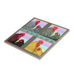 "Cochins Four Colors Ceramic Tile<br><div class=""desc"">Cochins are Asiatic Class chickens bred in a number of exhibition colors.  Here are four:  Barred,  Birchen,  Partridge and Buff.</div>"