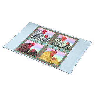 Cochins Four Colors Cloth Placemat