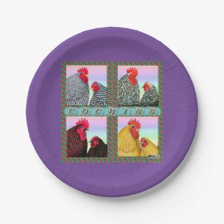 Cochins Four Colors Paper Plate
