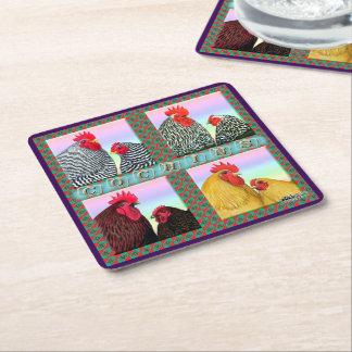 Cochins Four Colors Square Paper Coaster