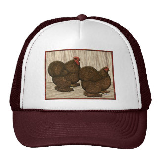 Cochins:  Gallos rojos texturizados Gorro De Camionero
