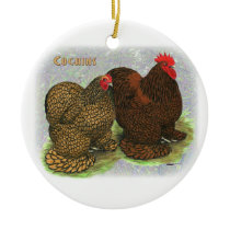 Cochins_Gold_Lace_3 Ceramic Ornament