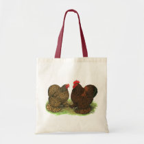 Cochins:  Golden-laced Tote Bag