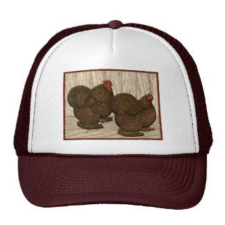Cochins:  Textured Red Bantams Mesh Hats