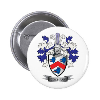 Cochran Family Crest Coat of Arms Button