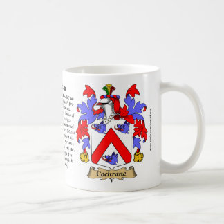 Cochrane, the Origin, the Meaning and the Crest Coffee Mug