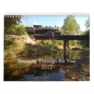 Cocido al vapor al vapor a través del calendario d