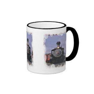 Cocido al vapor al vapor adelante taza de café