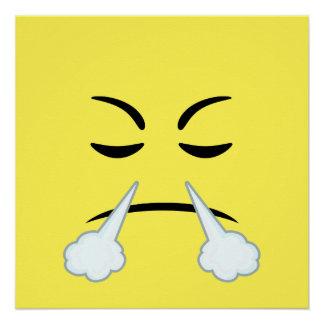 Cocido al vapor de Emoji al vapor Perfect Poster