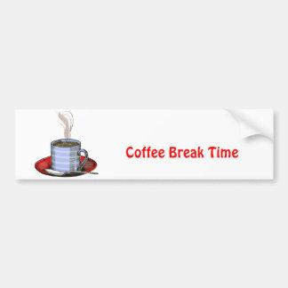 Cocido al vapor de la taza al vapor de café pegatina de parachoque