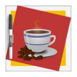 Cocido al vapor de la taza al vapor de café con lo pizarras