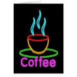 Cocido al vapor de la taza al vapor de café de tarjeta de felicitación