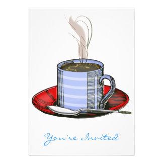 Cocido al vapor de la taza al vapor de café comunicados personalizados