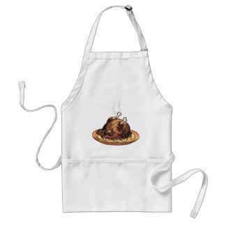 Cocido al vapor del pollo al vapor delantales